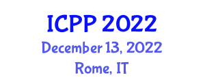 International Conference on Photochemistry and Photoelectrochemistry (ICPP) December 13, 2022 - Rome, Italy