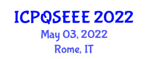 International Conference on Photons and Quantum States Entanglement in Electrical Engineering (ICPQSEEE) May 03, 2022 - Rome, Italy