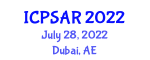 International Conference on Physchological Sciences and Addiction Research (ICPSAR) July 28, 2022 - Dubai, United Arab Emirates