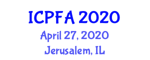International Conference on Physical Fitness and Activity (ICPFA) April 27, 2020 - Jerusalem, Israel