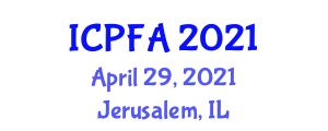 International Conference on Physical Fitness and Activity (ICPFA) April 29, 2021 - Jerusalem, Israel