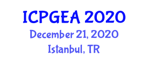 International Conference on Physical Geography and Ecosystem Analysis (ICPGEA) December 21, 2020 - Istanbul, Turkey