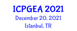 International Conference on Physical Geography and Ecosystem Analysis (ICPGEA) December 20, 2021 - Istanbul, Turkey