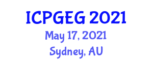 International Conference on Physical Geography and Environmental Geosciences (ICPGEG) May 17, 2021 - Sydney, Australia