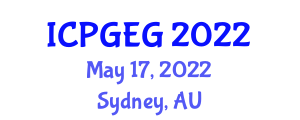 International Conference on Physical Geography and Environmental Geosciences (ICPGEG) May 17, 2022 - Sydney, Australia
