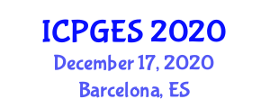 International Conference on Physical Geography and Environmental Studies (ICPGES) December 17, 2020 - Barcelona, Spain