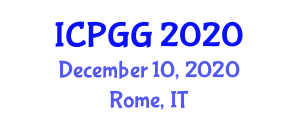 International Conference on Physical Geography and Geoecology (ICPGG) December 10, 2020 - Rome, Italy