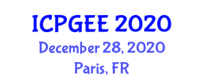 International Conference on Physical Geography, Earth and Environment (ICPGEE) December 28, 2020 - Paris, France