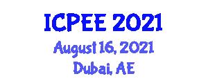 International Conference on Physics and Electronics Engineering (ICPEE) August 16, 2021 - Dubai, United Arab Emirates