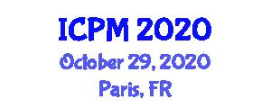 International Conference on Physics and Mathematics (ICPM) October 29, 2020 - Paris, France