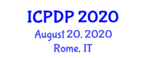 International Conference on Phytogeography and Distribution Patterns (ICPDP) August 20, 2020 - Rome, Italy
