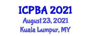 International Conference on Piezoelectric Biosensors and Applications (ICPBA) August 23, 2021 - Kuala Lumpur, Malaysia