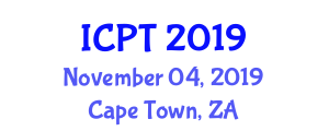 International Conference on Pipeline Transportation (ICPT) November 04, 2019 - Cape Town, South Africa