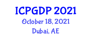 International Conference on Plant Geography and Distribution Patterns (ICPGDP) October 18, 2021 - Dubai, United Arab Emirates