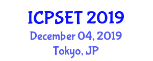 International Conference on Plasma Science, Engineering and Technology (ICPSET) December 04, 2019 - Tokyo, Japan