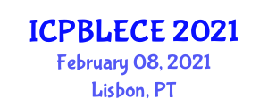 International Conference on Play-Based Learning and Early Childhood Education (ICPBLECE) February 08, 2021 - Lisbon, Portugal