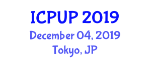International Conference on Policies in Urban Planning (ICPUP) December 04, 2019 - Tokyo, Japan