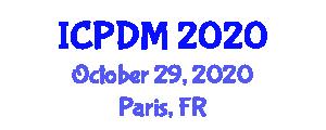 International Conference on Political Decision Making (ICPDM) October 29, 2020 - Paris, France