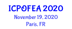International Conference on Polymer Optical Fibers for Engineering Applications (ICPOFEA) November 19, 2020 - Paris, France