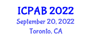 International Conference on Precision Agriculture and Biosecurity (ICPAB) September 20, 2022 - Toronto, Canada