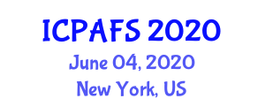 International Conference on Precision Agriculture and Food Security (ICPAFS) June 04, 2020 - New York, United States