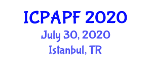 International Conference on Precision Agriculture and Precision Farming (ICPAPF) July 30, 2020 - Istanbul, Turkey