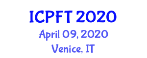 International Conference on Proteomics in Food Technology (ICPFT) April 09, 2020 - Venice, Italy