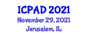 International Conference on Psychopathology and Anxiety Disorders (ICPAD) November 29, 2021 - Jerusalem, Israel