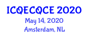 International Conference on Quantum Error Correction, Quantum Codes and Entanglement (ICQECQCE) May 14, 2020 - Amsterdam, Netherlands