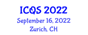 International Conference on Quantum Science (ICQS) September 16, 2022 - Zurich, Switzerland