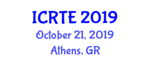 International Conference on Railway and Transportation Engineering (ICRTE) October 21, 2019 - Athens, Greece