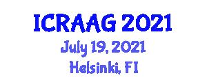International Conference on Recent Advances in Animal Genetics (ICRAAG) July 19, 2021 - Helsinki, Finland