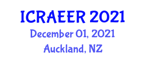 International Conference on Recent Advances in Ecological and Environmental Research (ICRAEER) December 01, 2021 - Auckland, New Zealand