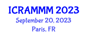 International Conference on Recent Advances in Microporous and Mesoporous Materials (ICRAMMM) September 20, 2023 - Paris, France