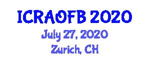International Conference on Recent Advances in Optical Fiber Biosensors (ICRAOFB) July 27, 2020 - Zurich, Switzerland