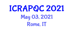 International Conference on Recent Advances in Post-Quantum Cryptography (ICRAPQC) May 03, 2021 - Rome, Italy
