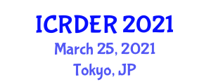 International Conference on Recent Developments in Environmental Robotics (ICRDER) March 25, 2021 - Tokyo, Japan
