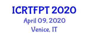 International Conference on Recent Trends in Food Packaging Technologies (ICRTFPT) April 09, 2020 - Venice, Italy