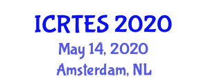 International Conference on Refrigerated Transport and Eutectic Systems (ICRTES) May 14, 2020 - Amsterdam, Netherlands