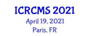 International Conference on Regional Climate Model Simulations (ICRCMS) April 19, 2021 - Paris, France