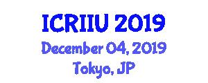 International Conference on Regional Integration and Intelligent Urbanism (ICRIIU) December 04, 2019 - Tokyo, Japan