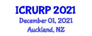 International Conference on Regional Urbanization and Regional Planning (ICRURP) December 01, 2021 - Auckland, New Zealand