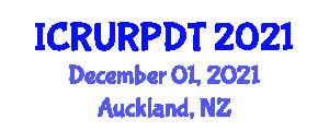 International Conference on Regional Urbanization, Regional Planning and Development Theories (ICRURPDT) December 01, 2021 - Auckland, New Zealand