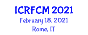 International Conference on Regulation of Food Contact Materials (ICRFCM) February 18, 2021 - Rome, Italy