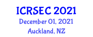 International Conference on Remote Sensing in Ecology and Conservation (ICRSEC) December 01, 2021 - Auckland, New Zealand
