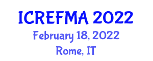International Conference on Renewable Energy Forecasting and Management Applications (ICREFMA) February 18, 2022 - Rome, Italy