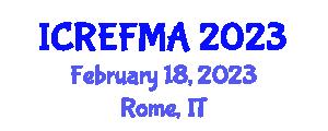 International Conference on Renewable Energy Forecasting and Management Applications (ICREFMA) February 18, 2023 - Rome, Italy