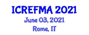 International Conference on Renewable Energy Forecasting, Modeling and Analysis (ICREFMA) June 03, 2021 - Rome, Italy