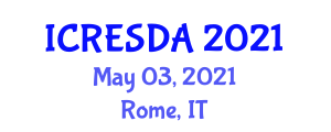 International Conference on Renewable Energy System Design and Applications (ICRESDA) May 03, 2021 - Rome, Italy
