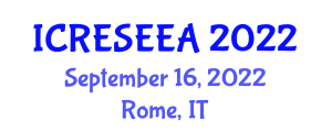 International Conference on Renewable Energy Systems and Electrical Engineering Applications (ICRESEEA) September 16, 2022 - Rome, Italy